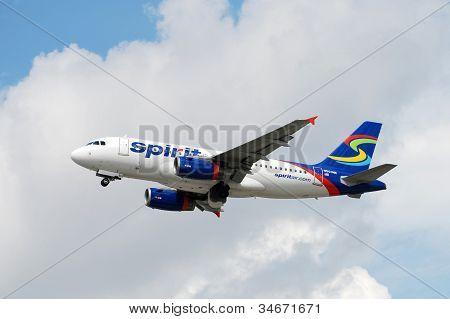 Spirit Air Airbus A-319 Jet Airplane