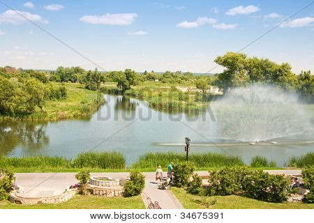 Embankment Of The River Tsna