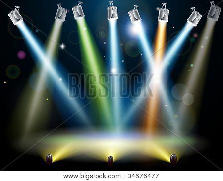 Tanz-Etage oder Bühne-Lichter