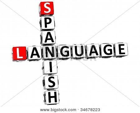 3D Spanish Language Crossword