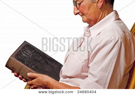 Grandma With Bible