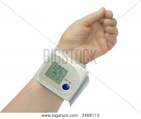 Wrist Blood Pressure Monitor Over White