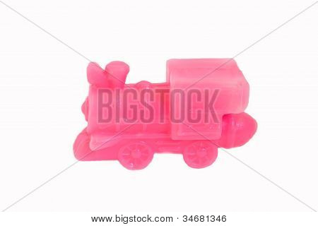 Una locomotora rosa