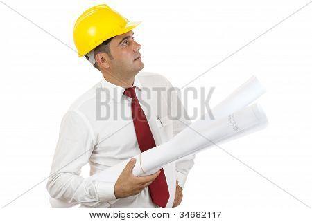 Ingeniero con estampados azules