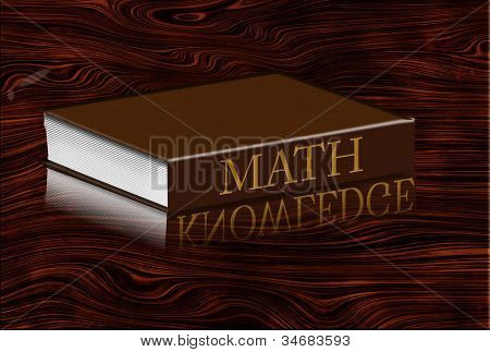 Math book reflecting knowledge in desktop