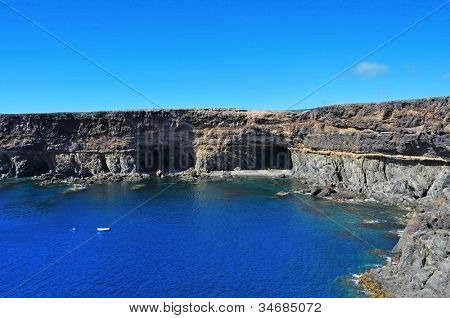 coves and caves in Ajuy, Fuerteventura, Canary Islands, Spain
