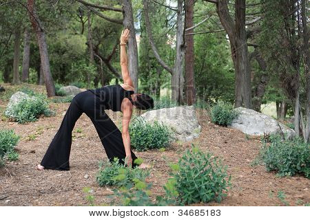 Yoga In Forest