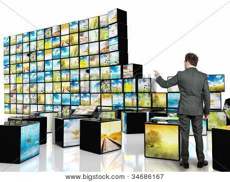 Cubo abstractos televisión
