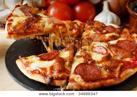 Bbq Meat Feast Gourmet Pizza