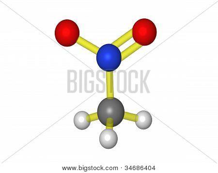 Molecule of nitromethane