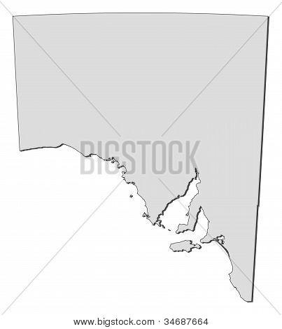 Map Of South Australia (australia)