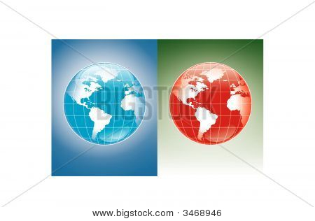 World Blue And Red