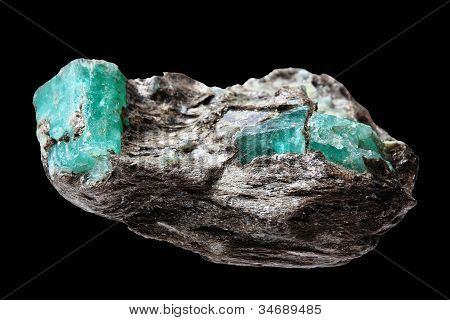 Ore With Emeralds