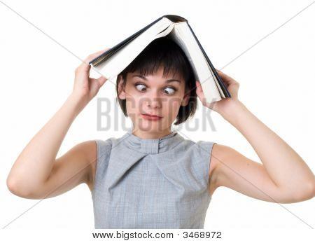 Girl With Big Book