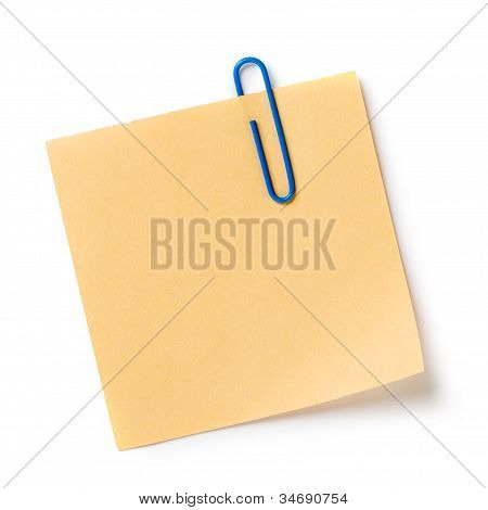 Note With A Paper Clip