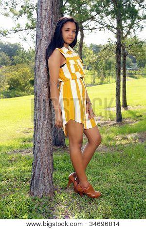Cute Teen Latina Outdoors