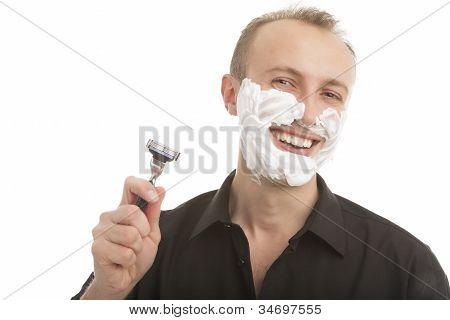 Handsome Man Preparing To Shave