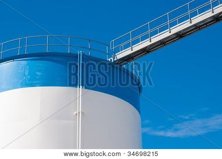 Bridge On A Oil Storage Tank