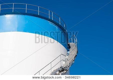 Stair On A Oil Storage Tank