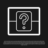 Black Mystery Box Or Random Loot Box For Games Icon Isolated On Black Background. Question Box. Vect poster