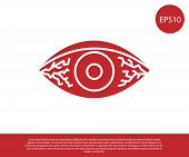 Red Reddish Eye Due To Viral, Bacterial Or Allergic Conjunctivitis Icon Isolated On White Background poster
