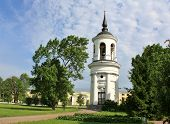 stock photo of tsarskoe  - Belfry of the Sophia Cathedral in Tsarskoe Selo built by the architect Cameron in the late eighteenth century - JPG