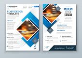 Blue Flyer Template Layout Design. Corporate Business Flyer, Brochure, Annual Report, Catalog, Magaz poster