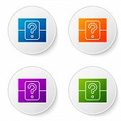 Color Mystery Box Or Random Loot Box For Games Icon Isolated On White Background. Question Box. Set  poster