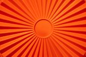 Geometric Sun With Sunbeams. Solar Symbol. Orange Wallpaper. poster