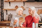 Two Good-looking Elderly Women Having Good Time poster
