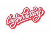 Congratulations. Greeting Card. Vector Hand Drawn Illustration. poster