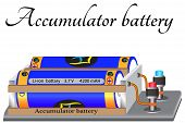An Electric Battery Is A Reusable Chemical Current Source For Laboratory Use poster