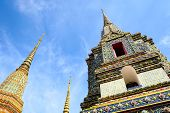 Phra Maha Chedi Four Kings On Uprisen Angle In Daytime, A Large And Tall Pagoda Built As The Reign O poster