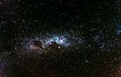 Starry Sky Photo Of Milky Way, Galaxies, And Universe In The Space. poster