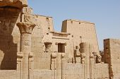 picture of horus  - Edfu Temple Is Temple Of Falcon God Horus In Egypt - JPG