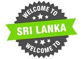 Sri Lanka Sign. Welcome To Sri Lanka Green Sticker poster