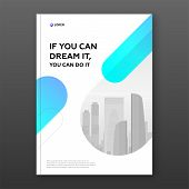 Corporate Brochure Cover Design Template For Business. Good For Annual Report, Magazine Cover, Poste poster