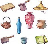Постер, плакат: Японские кухонные принадлежности