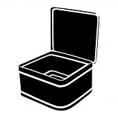Linear Lunch Box Icon From Education Outline Collection. Thin Line Lunch Box Icon Vector Isolated On poster