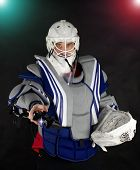 Hockey Goalie Invites You To Play Eports.electronic Sports Are Popular.hockey Goalkeeper Gives You A poster