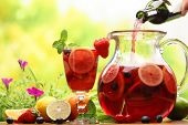 picture of sangria  - Refreshing sangria  - JPG