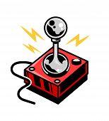 Old School Vintage Joystick For Play Retro Video Game Gamer Arcade. Custom Design Vector Isometric I poster