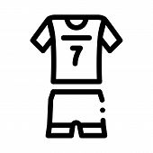 Volleyball Uniform Icon Vector. Outline Volleyball Uniform Sign. Isolated Contour Symbol Illustratio poster