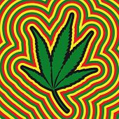 pic of rastaman  - a stylized illustration of a marijuana leaf - JPG