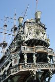 stock photo of galleon  - Detail of a beautiful Spanish galleon in Genoa - JPG