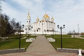Assumption Cathedral In Vladimir, Russia. Golden Ring Of Russia. poster