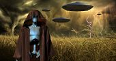 stock photo of encounter  - Alien Invasion - JPG