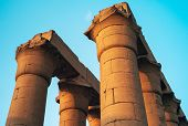 Great Processional Colonnade Of Amenhotep Iii, Luxor Temple, Egypt - Massive Stone Columns Or Pillar poster