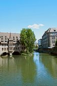 pic of regnitz  - River Regnitz and houses in Nuremberg, Germany