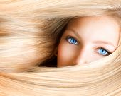 foto of hair streaks  - Blond Girl - JPG